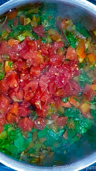 Added can of ROTEL Tomatoes with green chillies tp the pot